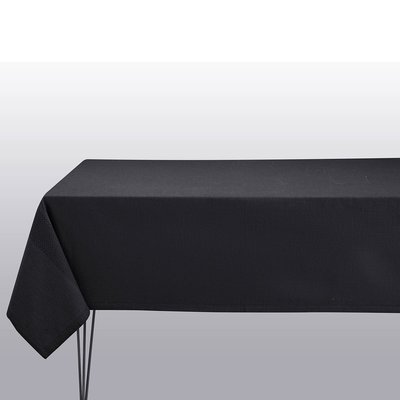 LE JACQUARD FRANCAIS Slow Life Tablecloth 59'' X 102'' Carbon