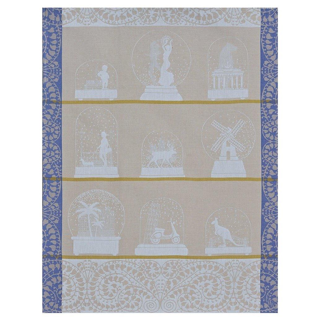 LE JACQUARD FRANCAIS Souvenirs Tea Towel 24'' X 31'' Danube