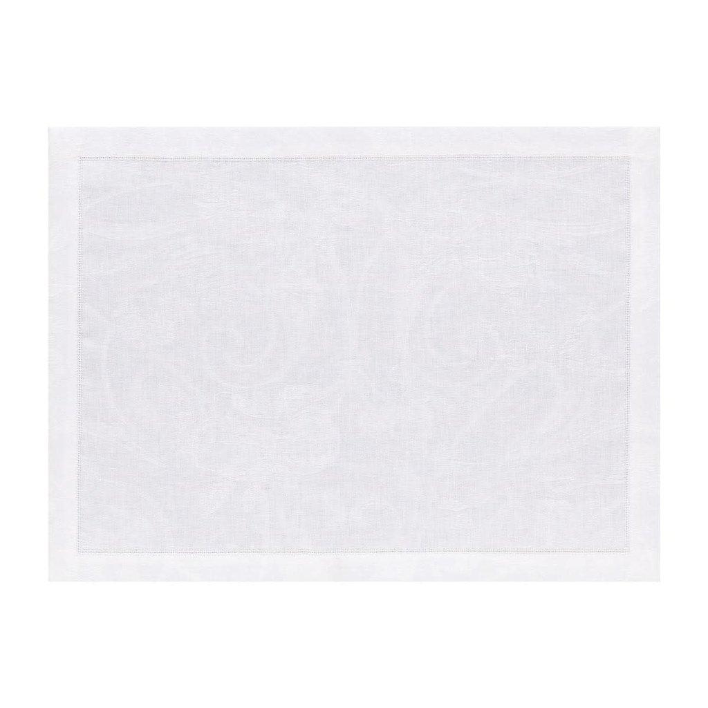 LE JACQUARD FRANCAIS Tivoli Napperon 14'' X 19'' Blanc
