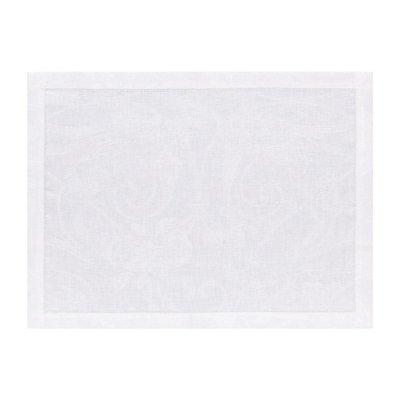 LE JACQUARD FRANCAIS Tivoli Placemat 14'' X 19'' White