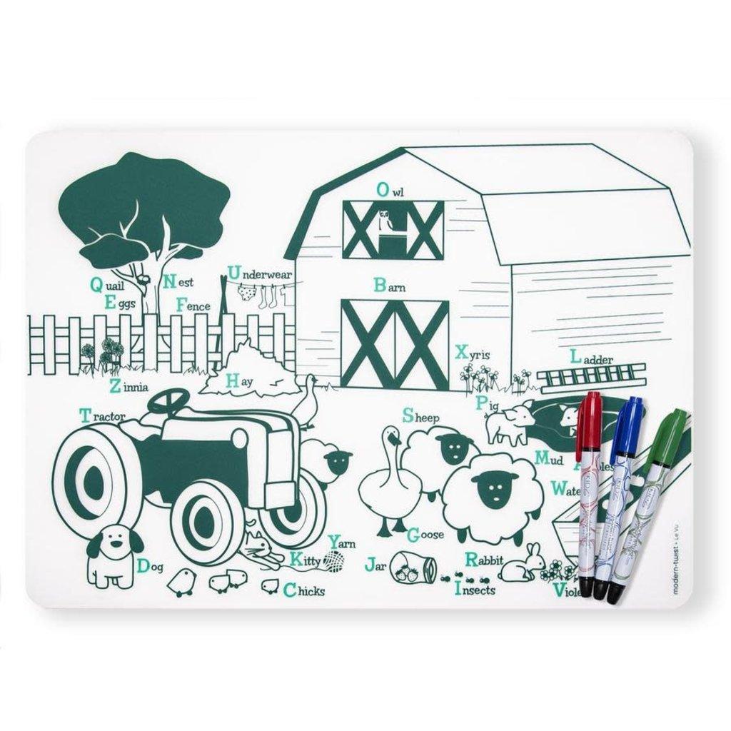 MODERN TWIST Mark-Mat Set: Farm Buddies + 3 Markers