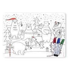 MODERN TWIST Mark-Mat Set: Holiday Polar Bear Party