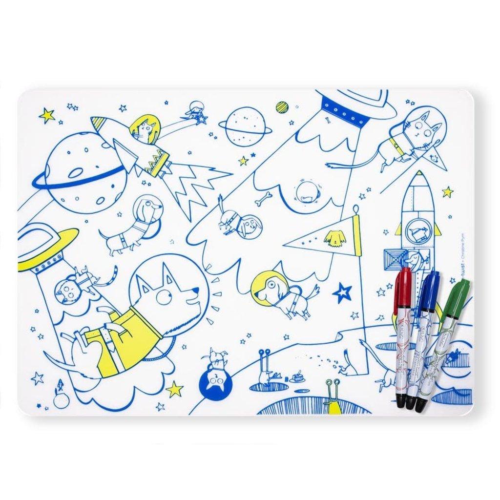 MODERN TWIST Mark-Mat Set: Space Animals + 3 Markers