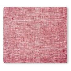 MODERN TWIST Placemat: Linen - Cranberry 14X16 In.