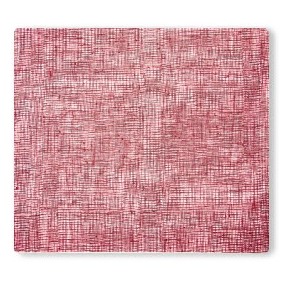 MODERN TWIST Placemat: Linen - Cranberry 14X16 In.