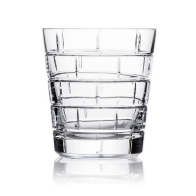 ROGASKA Quoin Double Old Fashioned Crystal Set/2 - 12 Oz