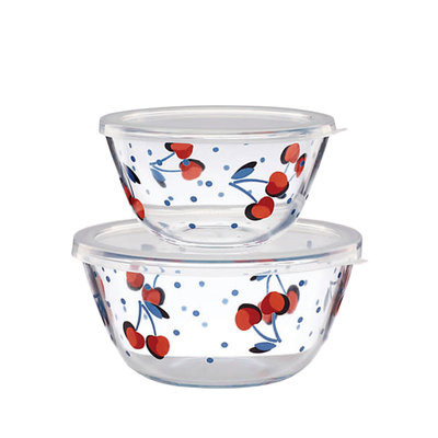 KATE SPADE Vintage Cherry Dot Round Serve&Store Set/2