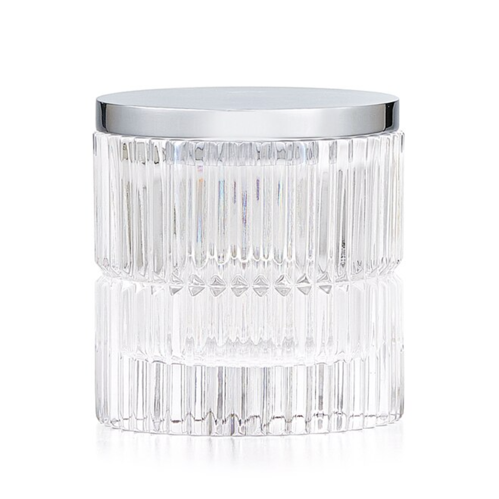 LABRAZEL Prisma Fine Crystal & Polished Chrome Canister in Clear