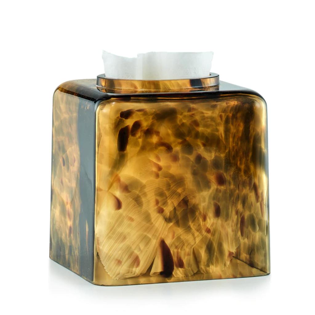 LABRAZEL Couverture de tissu en écaille de tortue en brun doré