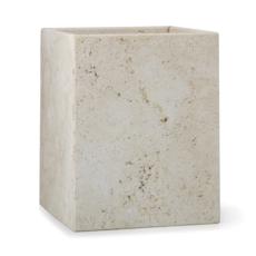 LABRAZEL Corbeille à déchets en marbre du travertin aztèque sable & beige