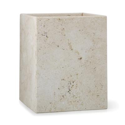 LABRAZEL Corbeille à déchets en marbre du Travertin Aztèque