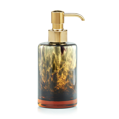 LABRAZEL Tortoise Shell & Matte Brass Soap Dispenser