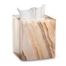 LABRAZEL Couverture de tissu Ambarino Onyx en blanc et caramel