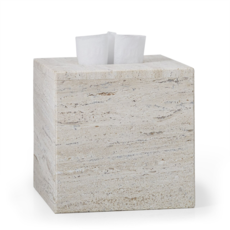 LABRAZEL Aztec Travertine Marble Tissue Cover in Sand & Tan