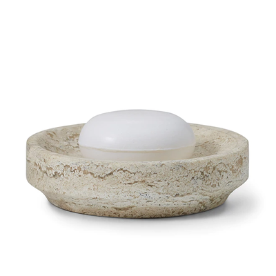 LABRAZEL Aztec Travertine Marble Soap Dish
