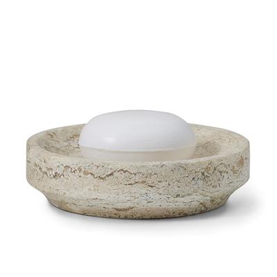 LABRAZEL Aztec Travertine Marble Soap Dish