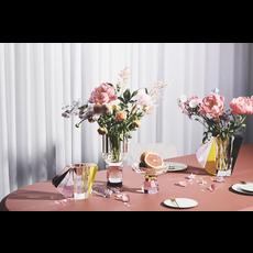 REFLECTIONS COPENHAGEN Grand vase Manhattan brun, rose, transparent et jaune en cristal fin