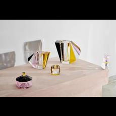 REFLECTIONS COPENHAGEN Manhattan Brown, Rose, Clear & Yellow Vase in Fine Crystal