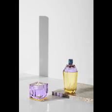 REFLECTIONS COPENHAGEN Bougeoir Ophelia violet et jaune en cristal fin