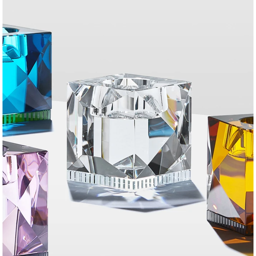 REFLECTIONS COPENHAGEN Ophelia Clear Tealight Candle Holder in Fine Crystal