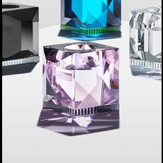 REFLECTIONS COPENHAGEN Bougeoir Ophelia Rose & Noir en cristal fin