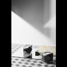 REFLECTIONS COPENHAGEN Bougeoir Ophelia en cristal fin noir et transparent
