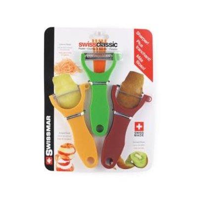 SWISSMAR SWISSMAR 3-Piece Y-Peeler Set (Spice-Serrated Curry-Scalpel Green-Julienne)