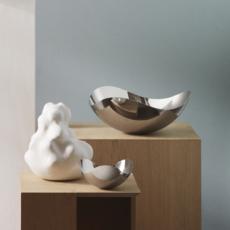 GEORG JENSEN Bloom Large Sculptural Bowl in Polished Stainless Steel
