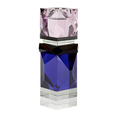 REFLECTIONS COPENHAGEN Miami Crystal Tealight Candle Holder - Rose, Black, Clear & Cobalt