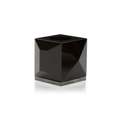 REFLECTIONS COPENHAGEN Ophelia Crystal Tealight Candle Holder - Black & Clear