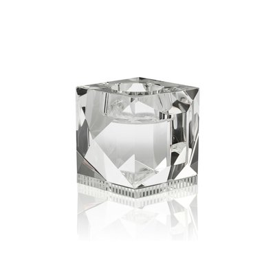 REFLECTIONS COPENHAGEN Ophelia Crystal Tealight Candle Holder - Clear