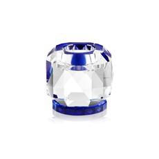 REFLECTIONS COPENHAGEN Bougeoir  Texas Transparent & Cobalt en cristal fin