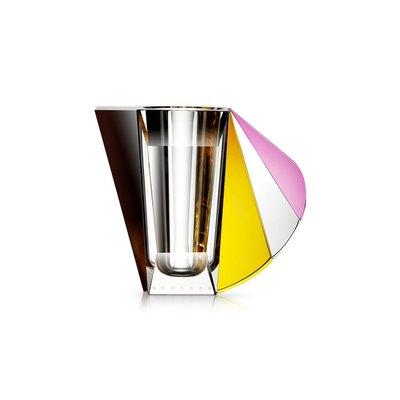 REFLECTIONS COPENHAGEN Grand Manhattan Crystal Vase  - Brown, Rose, Clear & Yellow