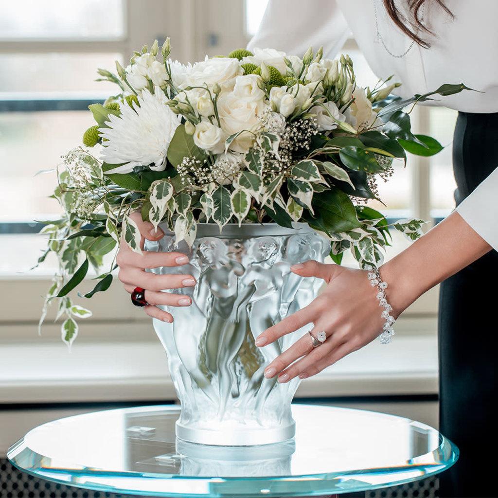 LALIQUE Bacchantes Vase Clair Large