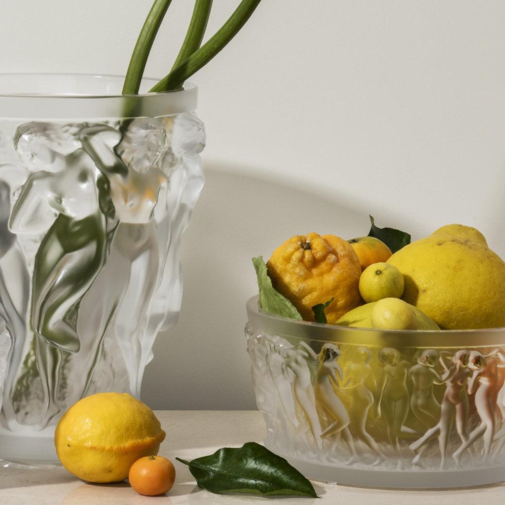 LALIQUE Bacchantes Vase Clear Large