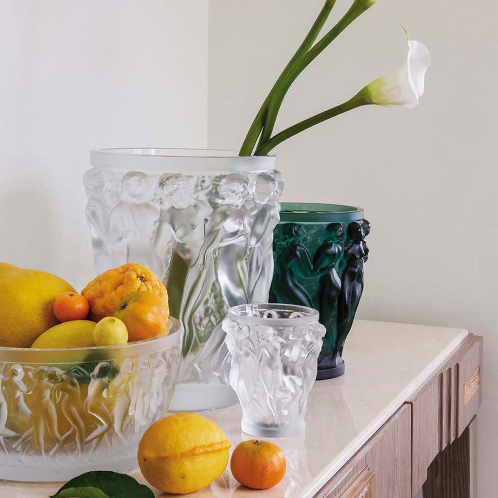 LALIQUE Bacchantes Vase Clair Petit