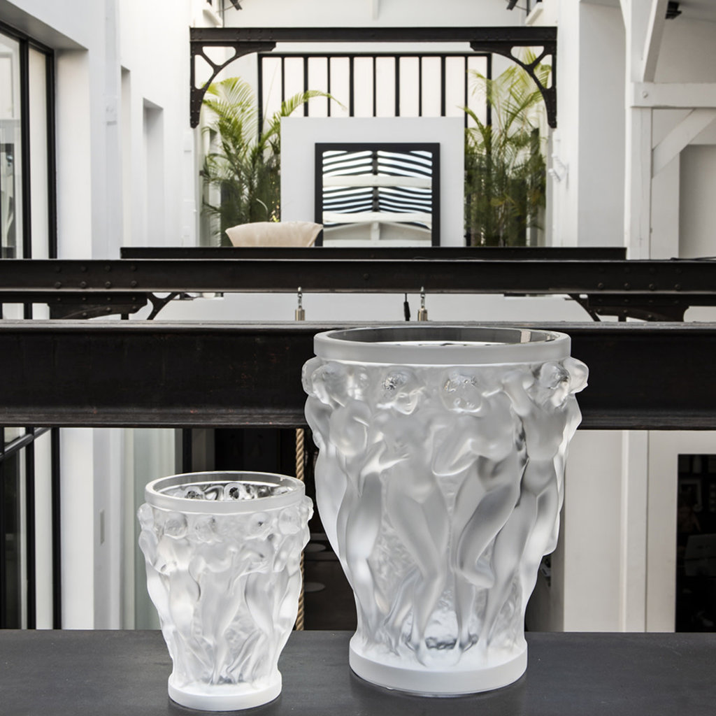 LALIQUE Bacchantes Vase Clear Small
