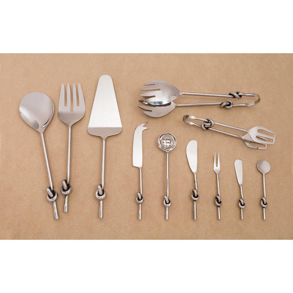 ABBOTT Knot Handle Olive Spoon 7''