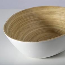 "BIBOL Bamboo Serving Bowl - ""Soai"" Glossy Colors Large/White"