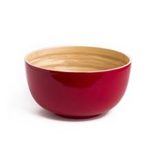 "BIBOL Bamboo Salad Bowl - ""Tchon"" Glossy Colors Large/Red"
