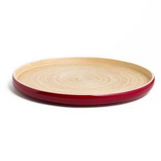 "BIBOL Bamboo Platter - ""Khay"" Tray Large/Red"