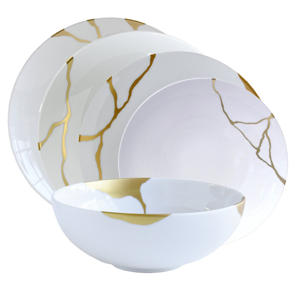 BERNARDAUD Kintsugi Collection de Vaisselle