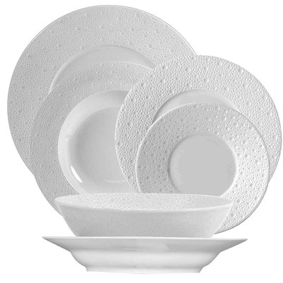BERNARDAUD Ecume White Dinnerware Collection