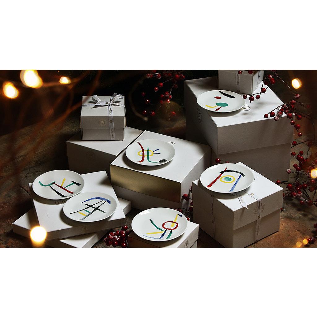 BERNARDAUD A Toute Epreuve - Joan Miro Set Of 2 Assorted Coffee Cups And Saucers