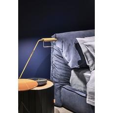 BAXTER Blade Table Lamp Concrete Base / Antique Brass 24 x 44''