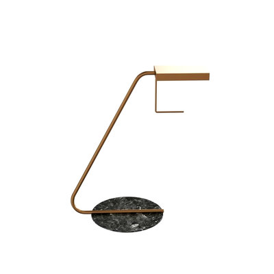 BAXTER Blade Lampe de Table avec Base en Béton / Laiton Antique 24 x 44''