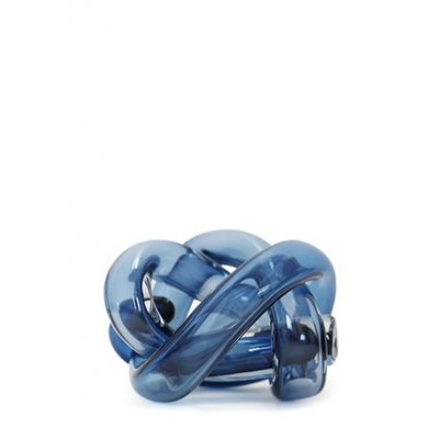 SKLO Accessoire décoratif en verre Wrap (18cm) - Bleu acier