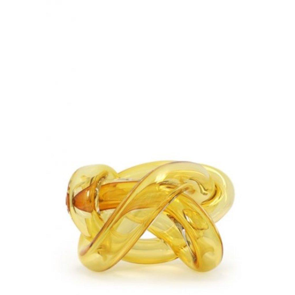 SKLO Wrap Amber Decorative Accessory (18cm) in Glass