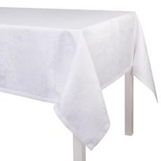 LE JACQUARD FRANCAIS Tivoli Tablecloth 94'' X 94'' White