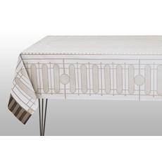 LE JACQUARD FRANCAIS Palais Royal Tablecloth 69'' X 126'' Stone